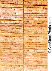 Orange brown brick wall texture background