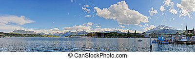 Panorama of Lucerne lake Switzerland