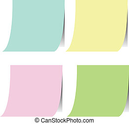 color post-it on board