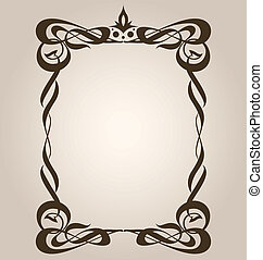 Classical Art Nouveau Frame - Classic art nouveau style...