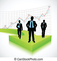 Businessman on Arrow - illustration of businessman standing...