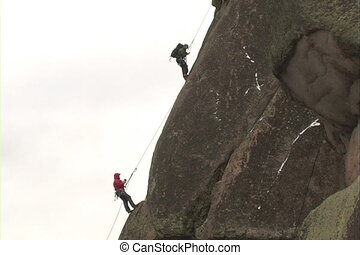Rock climber. - The Ascent of the climber on mountain.