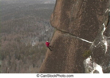 Rock Climbers - Climbers on rock climbing wall