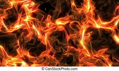 Fire, Computer Generated, Loop