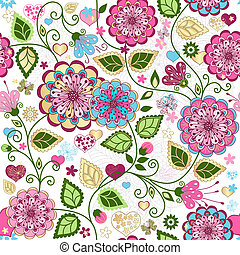 Seamless valentine colorful pattern - Seamless valentine...