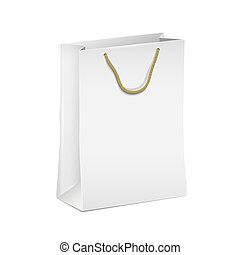 White shopping paper bag