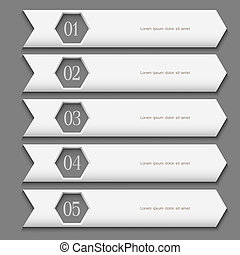 White Design template with stylized arrows