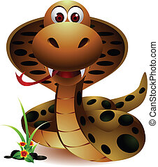 snake cobra - vector illustration of cute snake cobra