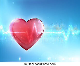 healthcare concept - Vector illustration of red heart shape...