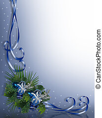Christmas Corner Blue - Image and digital illustration...