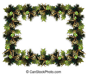 Christmas Garland Border - Image and digital illustration...
