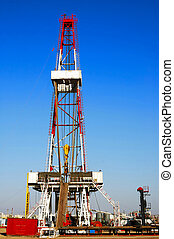 Drilling rig - A land drilling rig in Shengli Oil Plant,CHN