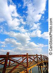 Wooden arch bridge