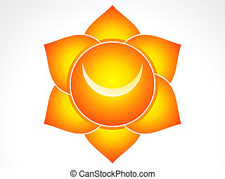 Kundalni sacral chakra vector illustration