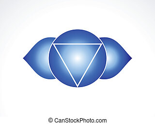 abstract third eye chakra vector illustration