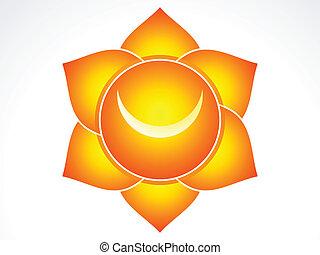 Kundalini sacral chakra vector illustration