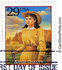 USA - CIRCA 1994 : Stamp printed in USA - Annie Oakley...
