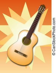 Spanish Guitar - A detailed Spanish Guitar