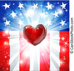 American Heart Patriotic Background