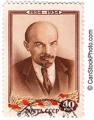 USSR-CIRCA 1954: stamp printed in USSR (now is Russia) -...