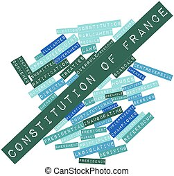 Word cloud for Constitution of France - Abstract word cloud...