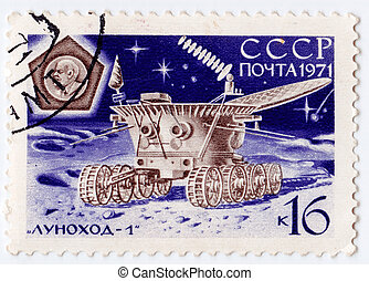 USSR - CIRCA 1971: stamp printed in USSR now is Russia shows...