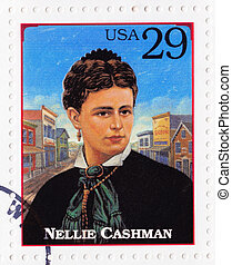 USA - CIRCA 1994 : Stamp printed in USA show Nellie Cashman...