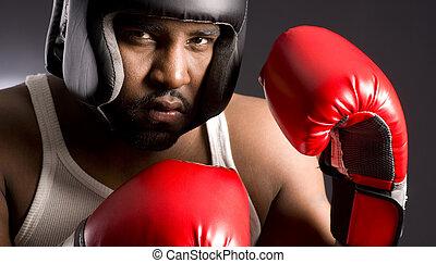Spar Tough - An African American man going to Spar