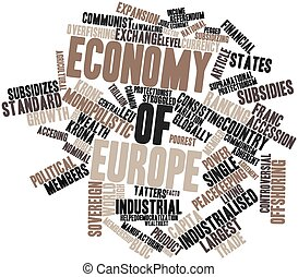 Economy of Europe - Abstract word cloud for Economy of...