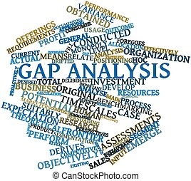 Word cloud for Gap analysis - Abstract word cloud for Gap...
