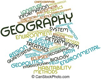 Geography - Abstract word cloud for Geography with related...
