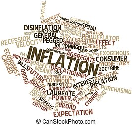 Word cloud for Inflation - Abstract word cloud for Inflation...