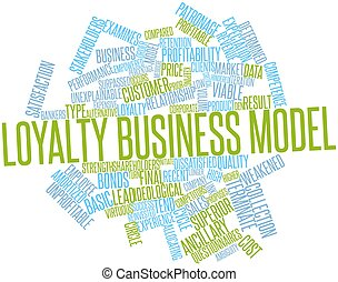 Loyalty business model - Abstract word cloud for Loyalty...