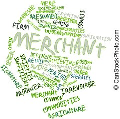 Merchant - Abstract word cloud for Merchant with related...