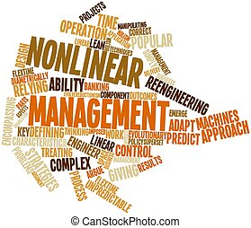 Word cloud for Nonlinear management - Abstract word cloud...
