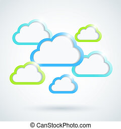 Clouds background. Vector illustration. Eps10.