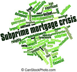 Subprime mortgage crisis - Abstract word cloud for Subprime...