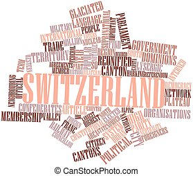 Switzerland - Abstract word cloud for Switzerland with...