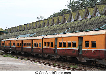 Train in Yangon, Burma - Myanma