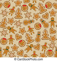 christmas cookies - Seamless background with christmas...