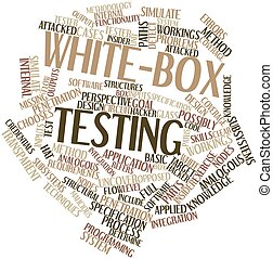 White-box testing - Abstract word cloud for White-box...