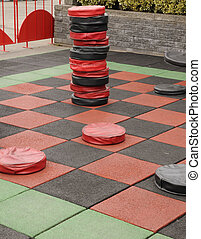 checker board - large checker board