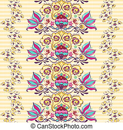 Vivid repeating floral - For easy making seamless pattern...