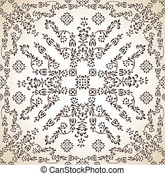 Seamless antique wallpaper in brown