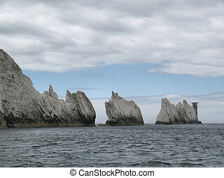 The Needles Isle of Wight - view of the Needles - Isle of...