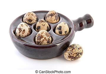 Bowl lapwing eggs - bowl little lapwing eggs isolated over...