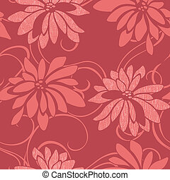 seamless floral background - Vivid repeating floral - For...
