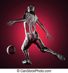 soccer game player made in 3D