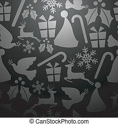 Gray Christmas seamless pattern