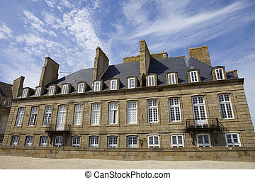 st malo - typical intra muros st malo houses, brittany,...